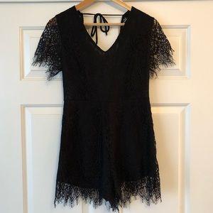 Black Lace Romper